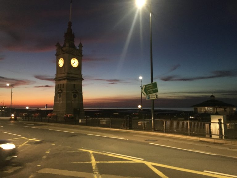 Margate's 'Big Ben' by the sea coast
